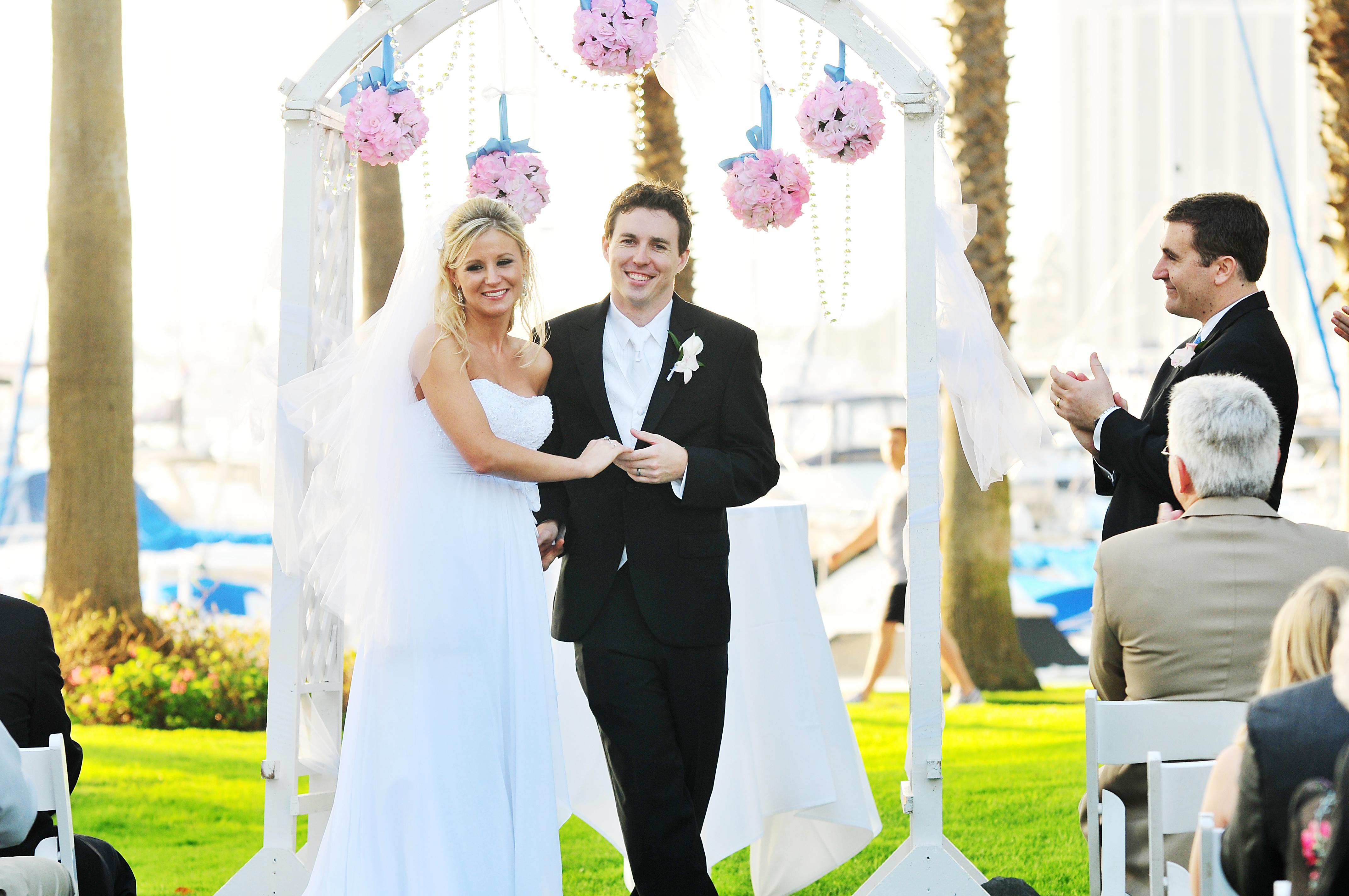 san diego ceremony, steph wong weddings, southern california wedding ceremony, beach ceremony, marina village ceremony