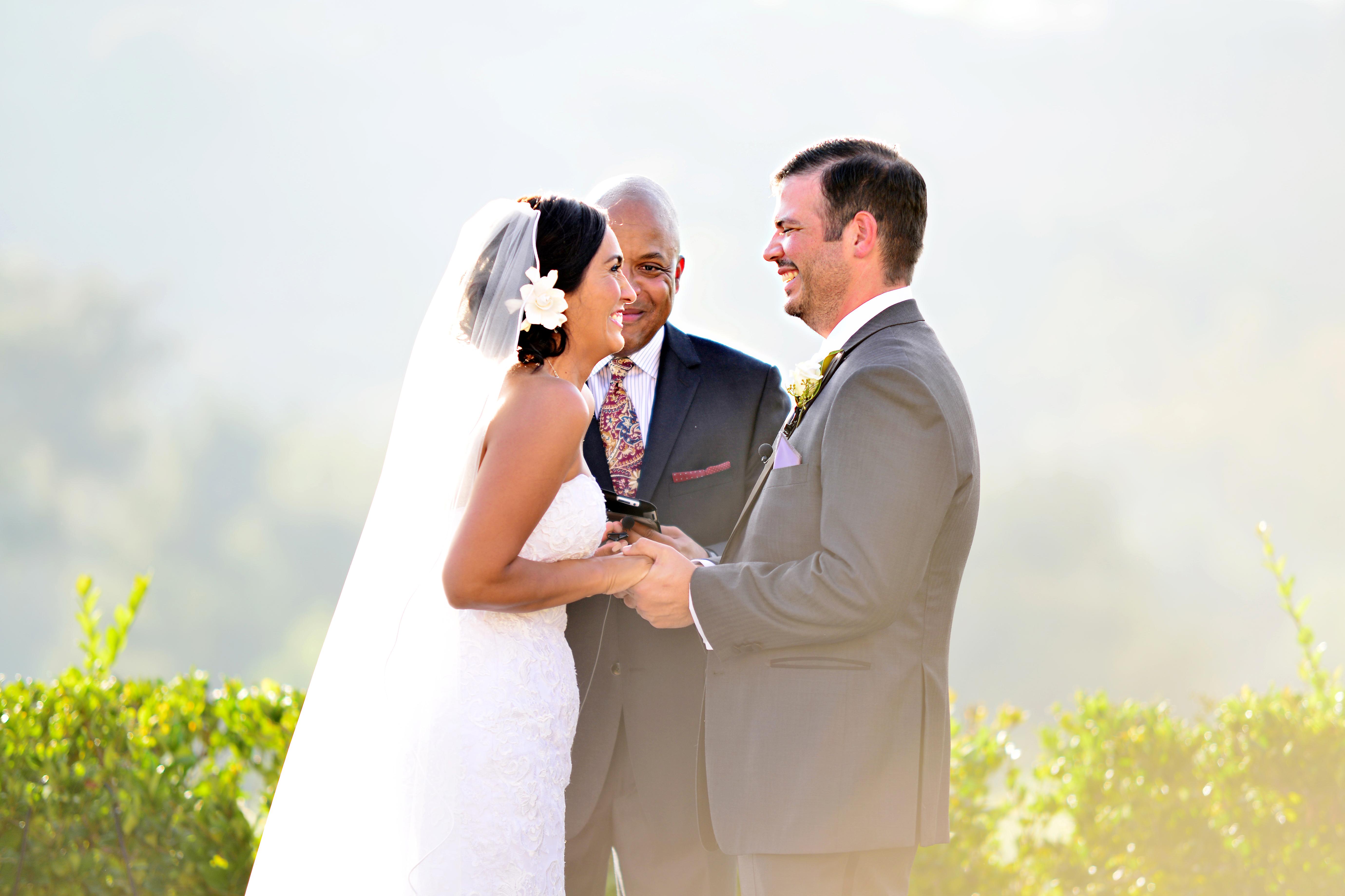 san diego ceremony, steph wong weddings, southern california wedding ceremony, beach ceremony, maderas golf course