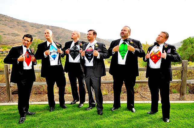 san diego weddings, southern california weddings. stephy wong photography, superheroes wedding, groomsman