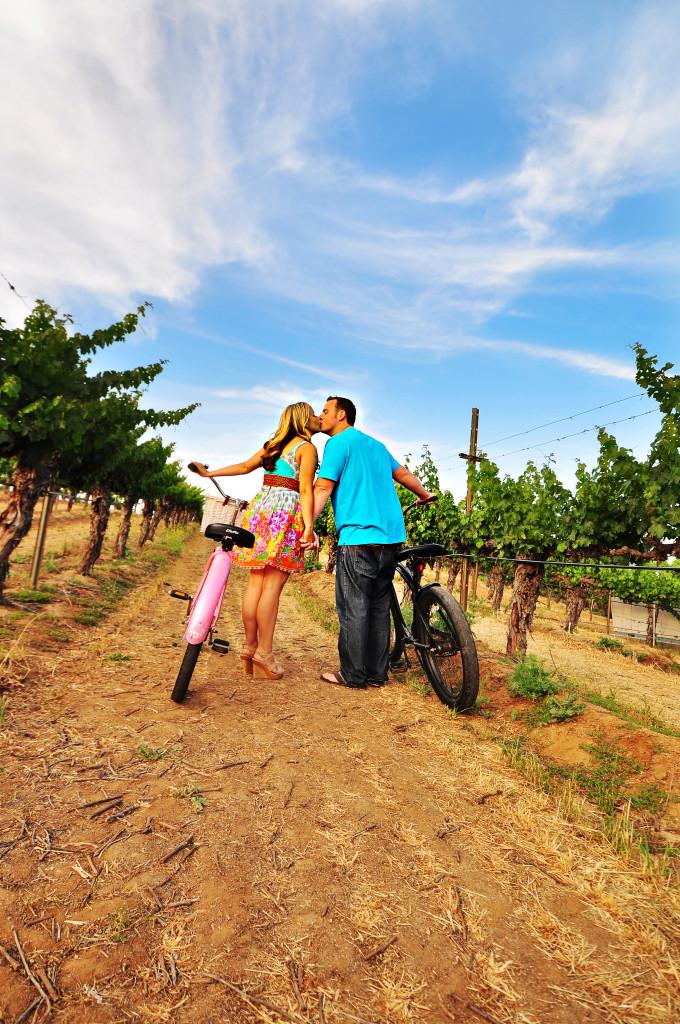 san diego engagement, coronado engagement portraits, winery engagement, bikes engagement