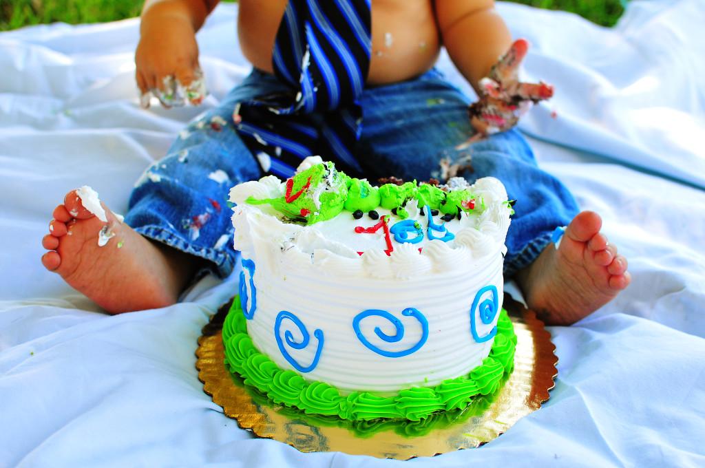 cake smash baby portraits, temecula baby portraits