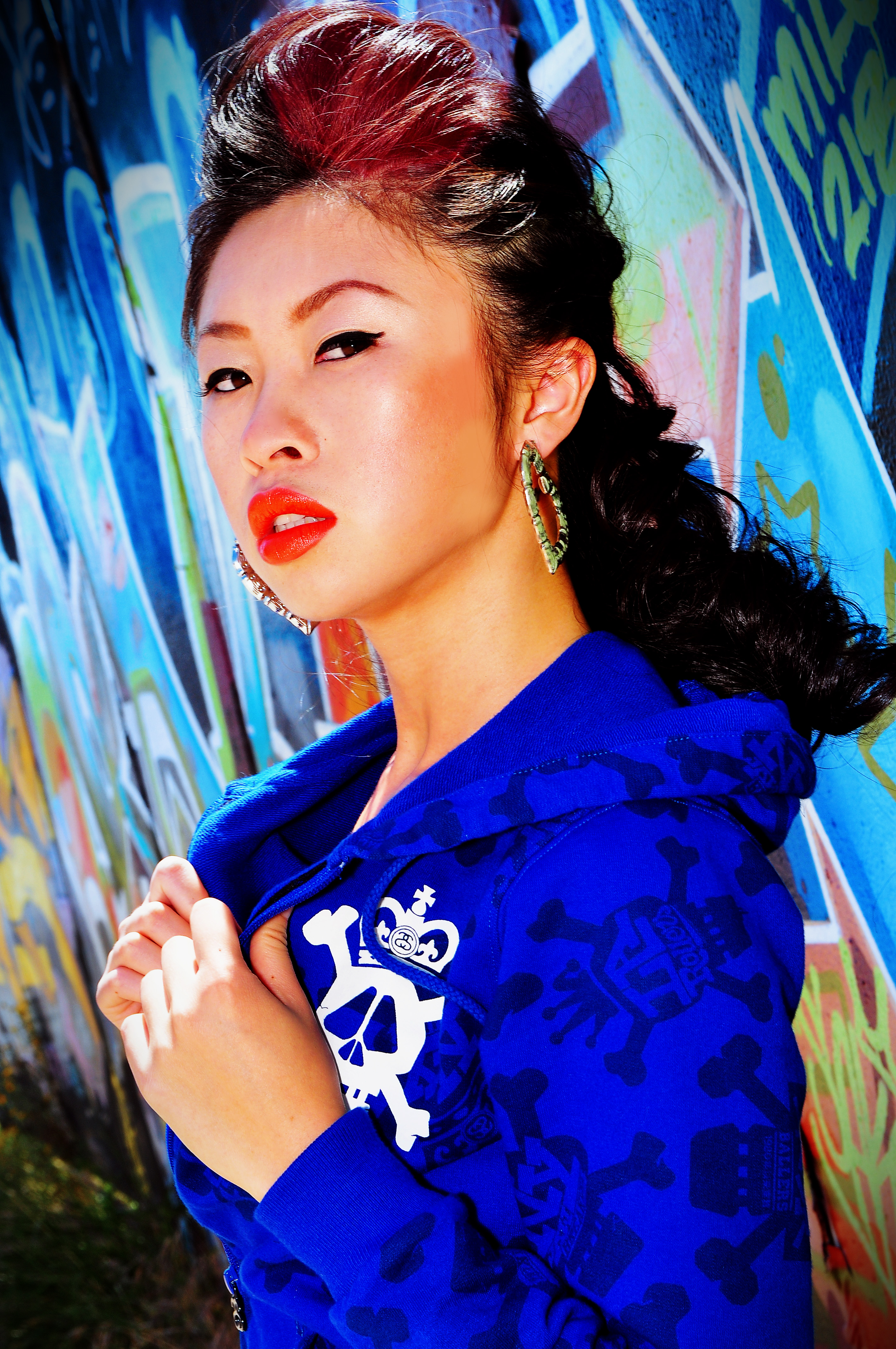 san diego modeling portraits, graffiti art modeling, san diego portraits